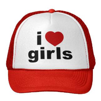 J'aime le chapeau de filles casquette trucker