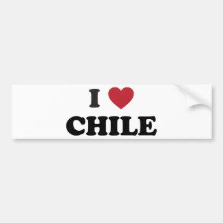 J'aime le Chili Autocollant De Voiture