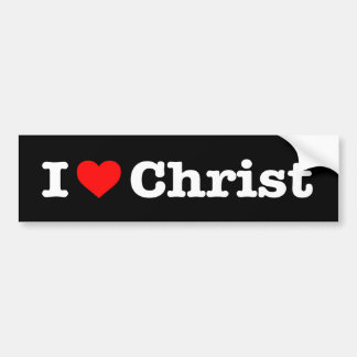 """""""J'AIME LE CHRIST"""" AUTOCOLLANT POUR VOITURE"""