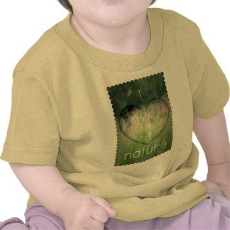 J'aime le coeur d'herbe de nature t-shirt