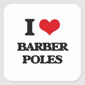 J'aime le coiffeur Polonais Stickers Carrés