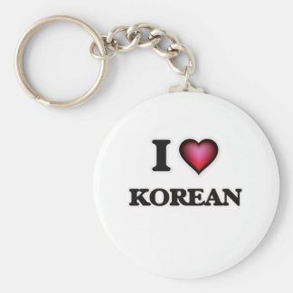 J'aime le coréen porte-clé rond