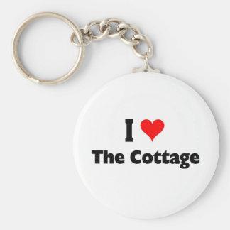 J'aime le cottage porte-clé rond