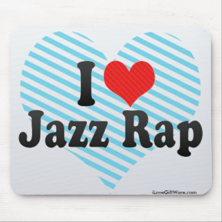 J'aime le coup sec et dur de jazz tapis de souris