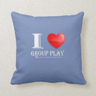 J'aime le coussin de jeu de groupe !