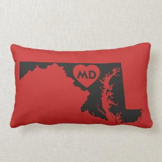 J'aime le coussin lombaire d'état du Maryland