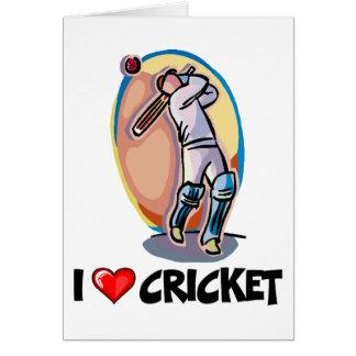 J'aime le cricket cartes