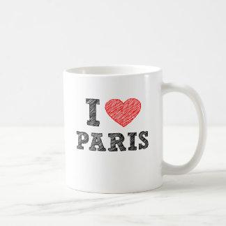 J'aime le croquis de Paris Mug