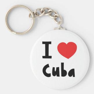 J'aime le Cuba Porte-clés