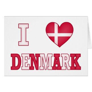 J'aime le Danemark Carte De Vœux