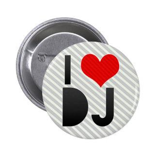 J'aime le DJ Badge Avec Épingle