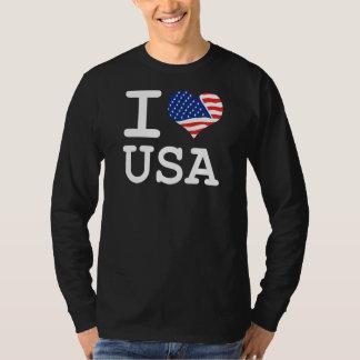 J'aime le drapeau Etats-Unis T-shirts