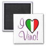 J'aime le drapeau Vin-Italien Aimant