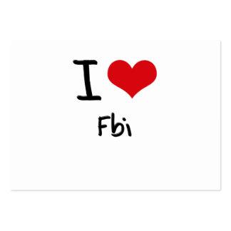 J'aime le Fbi Carte De Visite Grand Format