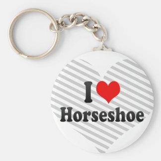 J'aime le fer à cheval porte-clef