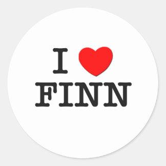 J'aime le Finn Sticker Rond