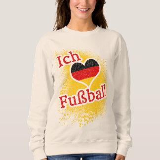 J'aime le football allemand de Fussball du Sweatshirt