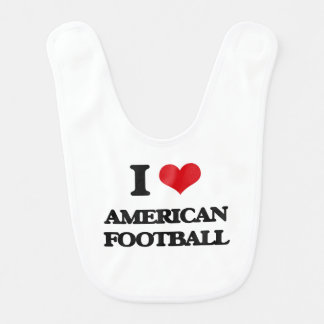 J'aime le football américain bavoirs de bébé