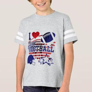 J'aime le football (le football américain) t-shirt