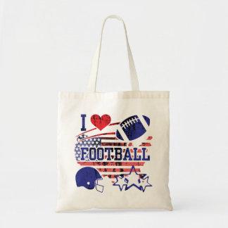 J'aime le football (le football américain) tote bag