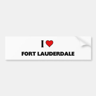 J'aime le Fort Lauderdale Autocollant Pour Voiture