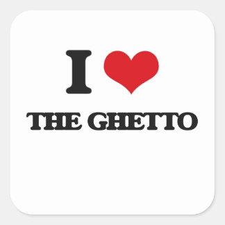 J'aime le ghetto sticker carré