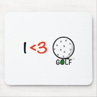 J'aime le golf tapis de souris