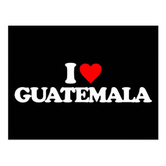 J'AIME LE GUATEMALA CARTE POSTALE
