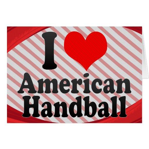 J'aime le handball américain cartes de vœux