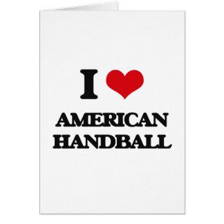 J'aime le handball américain carte de vœux