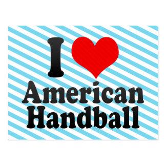 J'aime le handball américain carte postale