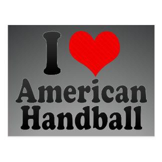 J'aime le handball américain cartes postales