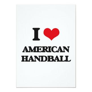 J'aime le handball américain carton d'invitation  12,7 cm x 17,78 cm