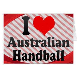 J'aime le handball australien carte de vœux