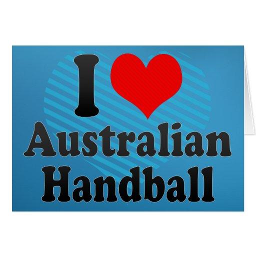 J'aime le handball australien cartes