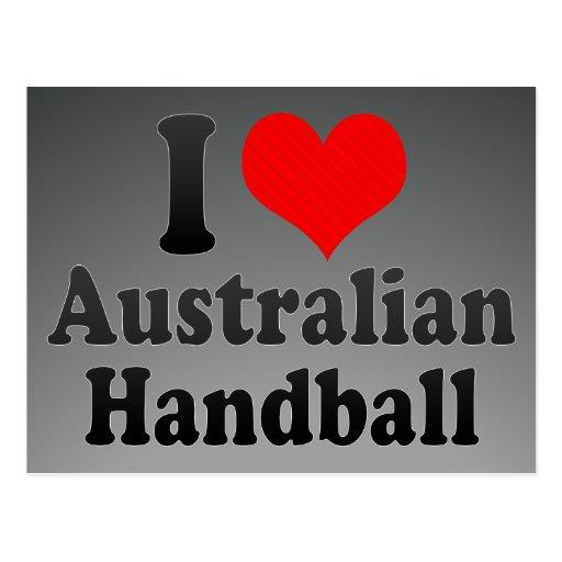 J'aime le handball australien cartes postales