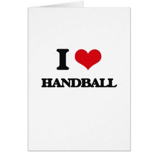 J'aime le handball cartes