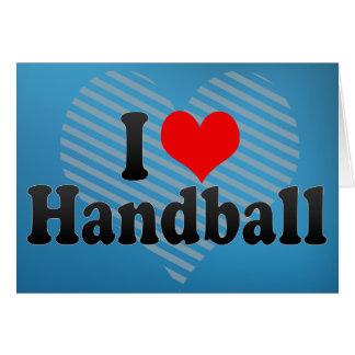 J'aime le handball carte de vœux