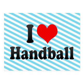 J'aime le handball cartes postales