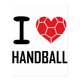 J'aime le handball carte postale