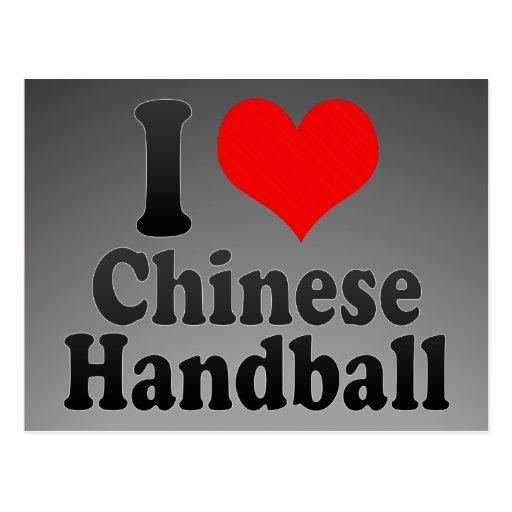 J'aime le handball chinois cartes postales
