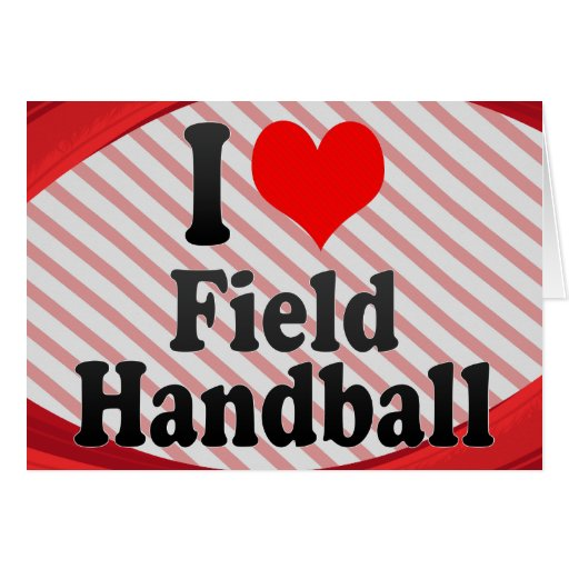 J'aime le handball de champ cartes