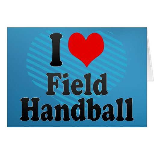 J'aime le handball de champ carte de vœux