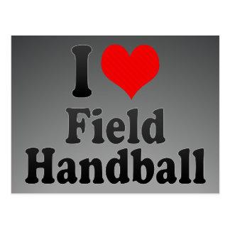 J'aime le handball de champ carte postale