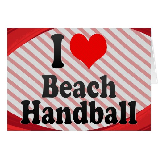 J'aime le handball de plage cartes de vœux