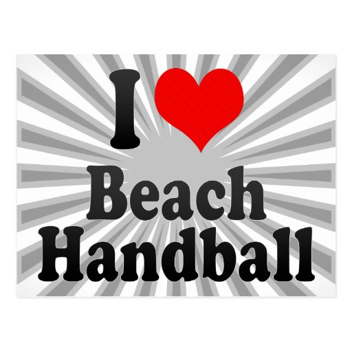 J'aime le handball de plage cartes postales