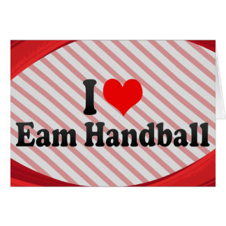 J'aime le handball d'Eam Cartes De Vœux