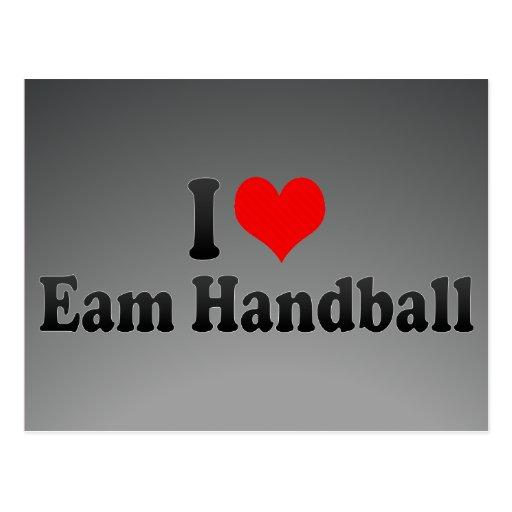J'aime le handball d'Eam Cartes Postales