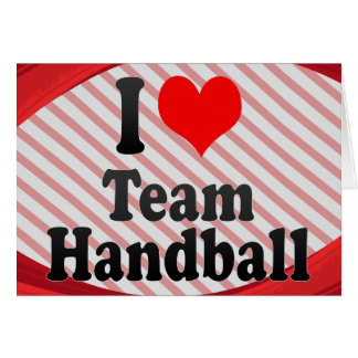 J'aime le handball d'équipe carte de vœux
