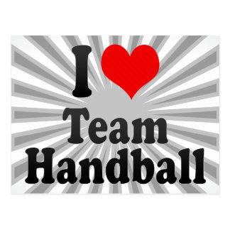 J'aime le handball d'équipe cartes postales